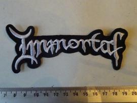 IMMORTAL - NAME WHITE SHAPED