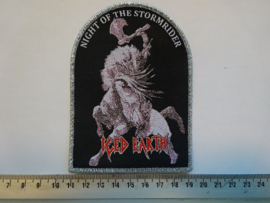 ICED EARTH - NIGHT OF THE STORMRIDER ( WOVEN )