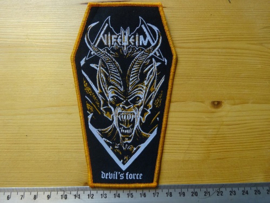 NIFELHEIM - DEVIL'S FORCE ( COFFIN SHAPED ORANGE BORDER )