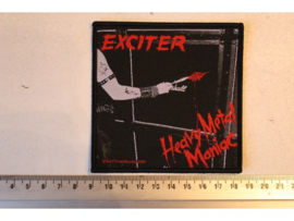 EXCITER - HEAVY METAL MANIAC ( BLACK BORDER ) WOVEN