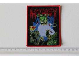 AUTOPSY- SEVERED SURVIVAL ( RED BORDER ) WOVEN