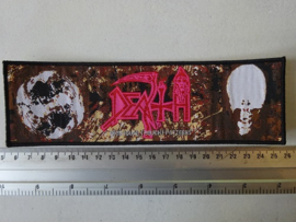 DEATH - INDIVIDUAL THOUGHT PATTERNS ( WOVEN STRIP, BLACK BORDER )