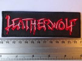 LEATHERWOLF - RED/WHITE LOGO
