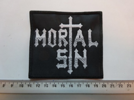 MORTAL SIN - WHITE/GREY NAME LOGO