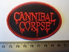 CANNIBAL CORPSE - RED LOGO ( OVAL )