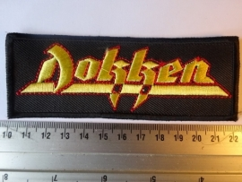 DOKKEN - YELLOW/RED LOGO