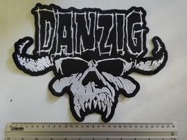 DANZIG - WHITE LOGO + SKULL
