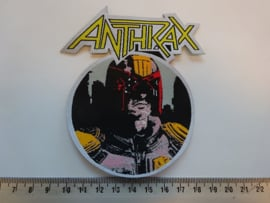 ANTHRAX - I AM THE LAW ( LASERCUT ) WOVEN