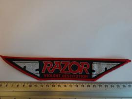 RAZOR - VIOLENT RESTITUTION ( RED BORDER ) WOVEN