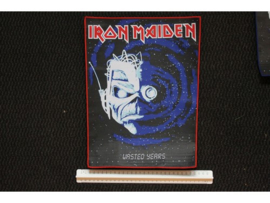 IRON MAIDEN - WASTED YEARS ( RED BORDER ) WOVEN