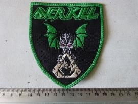 OVERKILL - GREEN LOGO ( GREEN BORDER )