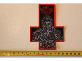 ARCHGOAT - THE LUCIFERIAN CROWN ( RED BORDER ) WOVEN