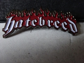 HATEBREED - WHITE NAME LOGO + RED FLAMES