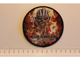 IRON MAIDEN - THE BOOK OF SOULS ( BLACK BORDER ) WOVEN