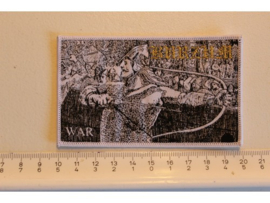 BURZUM - WAR ( WHITE BORDER ) WOVEN