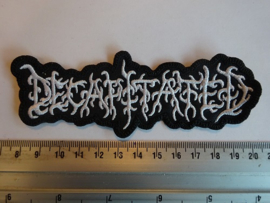 DECAPITATED - WHITE NAME LOGO ( SHAPED )