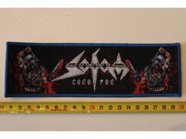 SODOM - CODE RED ( BLUE BORDER ) WOVEN STRIPE
