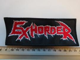 EXHORDER - RED/WHITE NAME LOGO