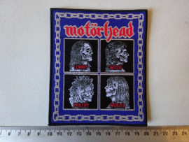 MOTORHEAD - LEMMY, WIZZO, PHILTHY, WÜRZEL ( BLACK BORDER ) WOVEN