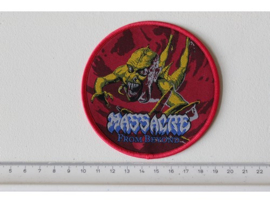 MASSACRE - FROM BEYOND ( RED BORDER ) WOVEN