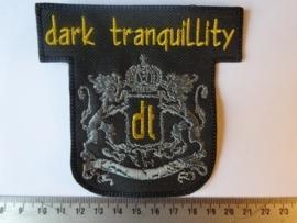 DARK TRANQUILLITY - GOLD NAME + GREY LOGO