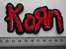 KORN - RED/WHITE NAME LOGO