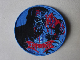 DISMEMBER - SKIN HER ALIVE  ( BLUE BORDER ) WOVEN