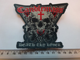 CANDLEMASS - DEATH THY LOVER ( RED ) WOVEN