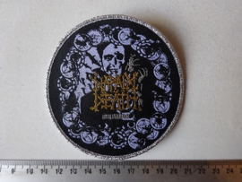NAPALM DEATH - UTILITARIAN CIRCLED SILVER (WOVEN) NUMBERED