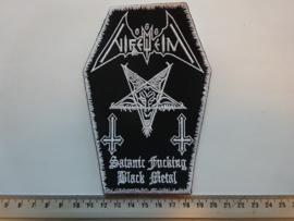 NIFELHEIM - SATANIC FUCKING BLACK METAL ( WHITE BORDER )