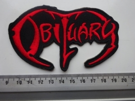 OBITUARY - SHAPED RED LOGO