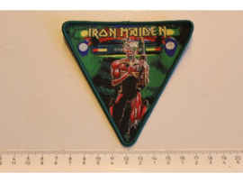 IRON MAIDEN - INVADERS ( GREEN BORDER ) WOVEN