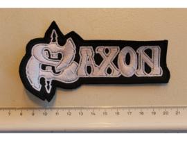 SAXON - WHITE/BLACK NAME LOGO