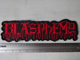 BLASPHEMY - RED LOGO