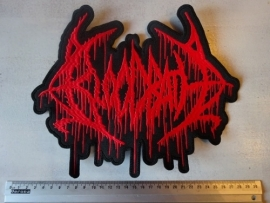 BLOODBATH - RED LOGO ( SHAPED )