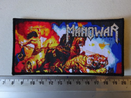 MANOWAR - FANTASY PRINT ( BLACK BORDER ) WOVEN