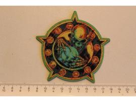 OVERKILL - HORRORSCOPE ( GREEN BORDER ) WOVEN