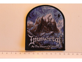 IMMORTAL - AT THE HEART OF WINTER ( BLACK BORDER ) WOVEN