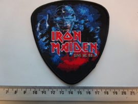 IRON MAIDEN - GIVE ME ED.. ( BLACK BORDER ) WOVEN
