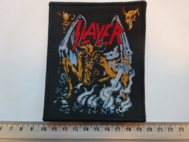SLAYER - EVIL ( BLACK BORDER ) WOVEN