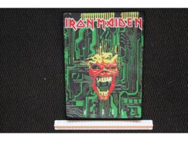 IRON MAIDEN - VIRUS ( BLACK BORDER ) WOVEN