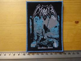 MORBID - DECEMBER MOON  (BLUE BORDER ) WOVEN