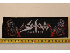 SODOM - CODE RED ( BLACK BORDER ) WOVEN STRIPE