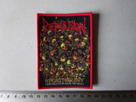 REPULSION - NECROTHOLOGY ( RED BORDER ) WOVEN