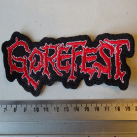 GOREFEST - RED/WHITE LOGO SHAPED