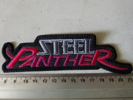 STEEL PANTHER - GREY/PINK NAME LOGO