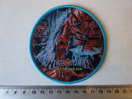 HELLOWEEN - BETTER THAN RAW ( BLUE BORDER ) WOVEN