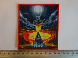 DIO - A LIGHT IN THE BLACK ( RED BORDER ) WOVEN