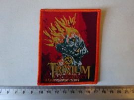 TRIVIUM - ASCENDANCY ( ORANGE BORDER ) WOVEN