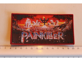 JUDAS PRIEST - PAINKILLER ( RED BORDER ) WOVEN 1